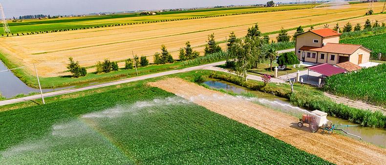 drón felvétel mezőgazdasági területekről